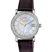 Đồng hồ Dugena nữ Rondo Petit Stone 7500155 dây da đen
