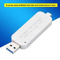 USB3.0 Type A and Type C M.2 NGFF SDD Hard Drive Adapter with Case