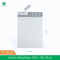 MT1A - 30x25 cm - 200 túi nilon 2 lớp đóng hàng thay thùng hộp carton