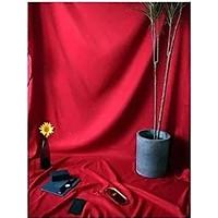 Phông vải đơn sắc đỏ đô 2.9x3m