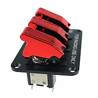 Racing Car Engine Start 3 Gang LED Push Button Ignition Toggle Switch Panel
