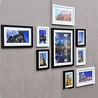 Bộ 9 Khung ảnh Treo Tường Phòng Khách KAD902  Miễn phí phụ kiện.