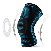 1pcs Knee Support Men Women Knee Brace with Side Stabilizers Silicone Pad Sports Knee Sleeves for Weightlifting