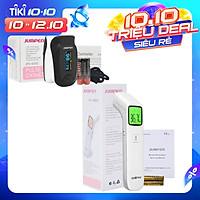 Combo Máy đo nồng độ oxy máu và nhịp tim, chỉ số PI Jumper SPO2 JPD-500D OLED và Nhiệt kế hồng ngoại không tiếp xúc Jumper FR203 (CHỨNG NHẬN FDA HOA KỲ + XUẤT USA)