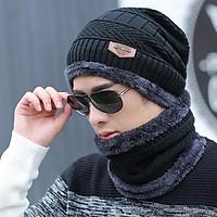 Mũ len kèm khăn ống quàng cổ cực ấm - phong cách Hàn Quốc - dành cho cả nam và nữ