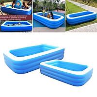 2 Cái bể bơi bơm hơi gia đình cỡ lớn chất liệu PVC Family Inflatable Swimming Pool Large
