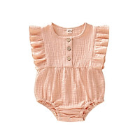 Summer Baby Newborn Girls Cute Jumpsuit Flare Sleeve Romper Infant Casual Bodysuit Outfits