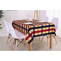 Khăn trải bàn cavas cao cấp ca rô đỏ xanh(140x220cm)