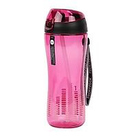 Bình nước nhựa thể thao Lock&Lock Bisfee có ống hút Silicon 650ml ABF629 - Hàng chính hãng