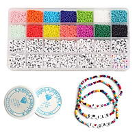 3mm Glass Seed Bead Small Spacer Beads DIY Necklace Jewelry Making Supplies