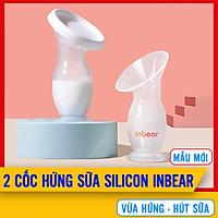 [COMBO 2] Cốc Hứng Sữa Inbear Nature, 100% Silicon Cao Cấp, Dung Tích 100 ml, Phễu Hút Sữa Nhanh Chóng, Dùng Làm Bình Hứng Sữa Đơn Giản