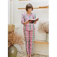 Bộ dài nữ tay lỡ Tvm Luxury Homewear B508