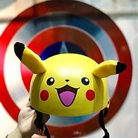 Mũ bảo hiềm 1/2 Pikachu có tai - Có Chong Chóng
