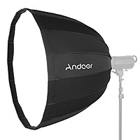 Andoer 28Inch / 70CM Deep Parabolic Softbox Quick Set-Up Collapsible Soft Umbrella Lighting Soft Box with Bowens Mount