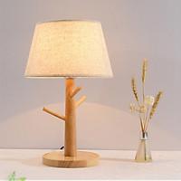Đèn ngủ để bàn XERA thân gỗ cao cấp