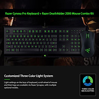 Razer Cynosa Pro Gaming Keyboard + Razer DeathAdder 2000DPI Mouse Combo Kit Wired Gaming Set with RGB Lighting/3 Color