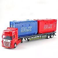 Đồ chơi mô hình xe đầu kéo container KAVY chi tiết sắc sảo, nhiều màu sắc kích thích thị giác của trẻ, có thể trưng bày
