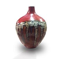 Bình hoa gốm sơn mài Bát Tràng - Gốm sứ bát tràng - Gốm ký danh