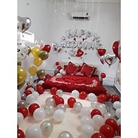 bộ bóng trang trí phòng cưới phòng tân hôn đẹp 018- Tặng bơm, băng keo, dây duy băng
