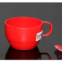 Bộ 2 cốc nước thiết kế dáng thấp, bằng nhựa PP cao cấp (màu đỏ) - Japan