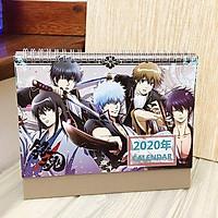 Lịch anime chibi 2020 Gintama để bàn tiện lợi tặng ảnh thiết kế Vcone