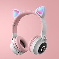 Tai nghe Bluetooth chụp tai mèo bản nâng cấp không bị rè, sáng nhiều màu - Hàng chính hãng