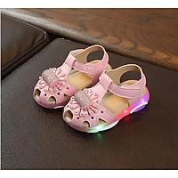 Giày sandal bé gái có đèn led, hàng cao cấp cho bé từ 1 đến 4 tuổi.