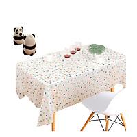 Bộ 1 khăn trãi bàn PVC chống thấm nước + 1 Hủ tăm gấu trúc tự động (Giao ngẫu nhiên)