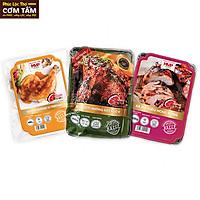 Đùi tỏi gà nướng ngũ vị, đùi gà nướng sốt Teriyaki và xá xíu kiểu Hongkong chế biến sẵn thơm ngon (Combo1)