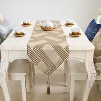 Khăn trải bàn hoạ tiết ziczac sang trọng cho bàn ăn 3-D-E6-T3024