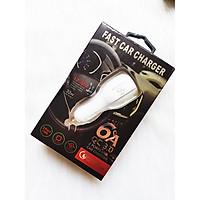 Củ Sạc Xe Hơi 2 cổng USB Quick Charge 3.0 Siêu Bền, Chống Nóng, Sạc Nhanh 3.0 - Chính Hãng CAPARIES VIỆT NAM