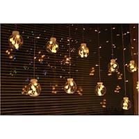 Đèn rèm led nháy bóng tròn, dây đèn rèm led trang trí hàng chính hãng