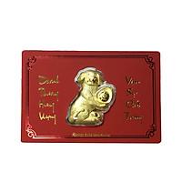 Lì xì khuyển vàng quà tặng mỹ nghệ KBP DOJI DE0118LXD