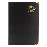 Sổ Ck T-Legend Bìa Da 168 Trang TIE (18 x 26 cm) - Đen