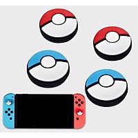 set 4 nút bọc cần analog bảo vệ cho tay cầm joy-con nintendo switch silicon mẫu poke xanh đỏ