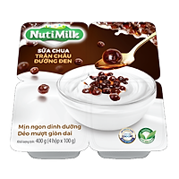 NutiMilk Lốc 4 Hộp Sữa chua Trân Châu Đường Đen L4.SCTDTI Nutifood