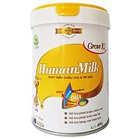 Sữa bột HumanMilk Grow IQ 400g hỗ trợ phát triển chiều cao, não bộ, tăng cân nặng cho bé từ 1 đến 10 tuổi