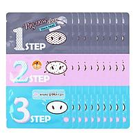 Combo 10 mặt nạ lột mụn đầu đen 3 bước Holika Holika pig nose clear black head 3-step kit