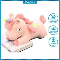 Gấu bông Unicorn cao cấp - Hàng chính hãng Memon - Đồ chơi thú nhồi bông Unicorn, Bông gòn PP 3D tinh khiết vải nhung mềm mịn, co dãn 4 chiều, sản phẩm bền đẹp, dễ sử dụng, an toàn cho bé