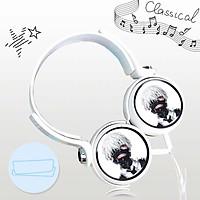 Tai nghe TOKYO GHOUL thiết kế thông minh cá tính cắm dây có mic anime chibi