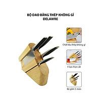 Dao bộ - dao lẻ cao cấp Delaware - 5 món bằng thép không gỉ