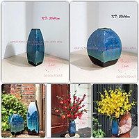 Lọ hoa - Bình hoa gốm sứ Bát Tràng cao cấp - Decor đẹp trang trí phòng khách, hội nghị, khách sạn