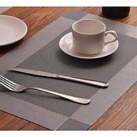 Tấm lót bàn ăn placemat màu xám 30x45cm