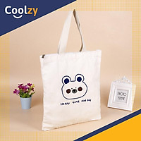 Túi xách nữ Tote In Gấu Happy Time | CoolZy