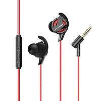 Tai nghe nhét tai hỗ trợ đàm thoại cho game thủ hiệu Baseus Gamo earphone H15 (thiết kế elbow, âm thanh Hifi surround, hỗ trợ gắn 2 micro)  - Hàng chính hãng