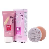Kem lót nền đa chức năng cao cấp Hàn Quốc Mira Jewel BB Cream (40g) + tặng Bông phấn tán kem nước Suri cao cấp  Hàn Quốc (bịch 2 miếng) – Hàng chính hãng.
