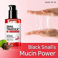 Serum Dưỡng Phục Hồi, Cải Thiện Vết Thâm, Sẹo Lõm Some By Mi Snail Truecica Miracle Repair Serum 50ml + Tặng 1 Mặt Nạ Sum37 Đen