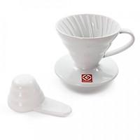 Phễu Pha Cà Phê Gốm Sứ Hario V60 Coffee Dripper - Trắng - 2 cup