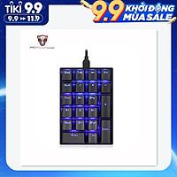 Bàn phím số cơ 21 nút Motospeed K23 đèn xanh với nút chuyển đổi OUTEMU