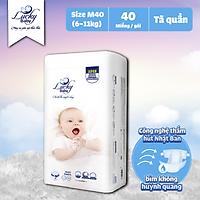 Tã Bỉm Quần Lucky Baby Không Huỳnh Quang, Siêu Thấm Hút M40 (6-11kg)